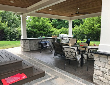 Outdoor Kitchen and Covered Back Porch