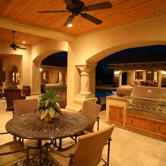 mediterranean patio by Asomoza Homes - Design Build