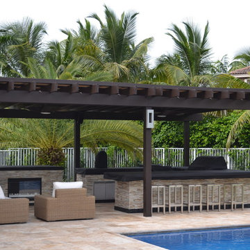 Outdoor kitchen And Pergola Project