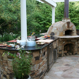 Outdoor Kitchen and Pizza Oven, Built in Grill