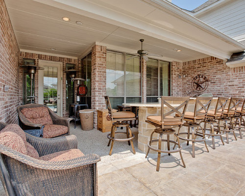 Lovely Example Of A Mountain Style Patio Design In Dallas Idea