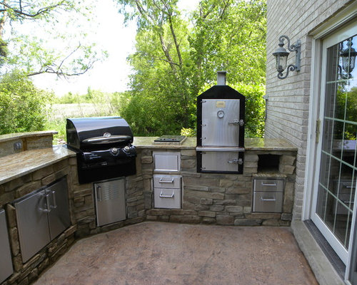 Traeger smoker grill home design ideas pictures remodel for Custom outdoor bbq kitchens