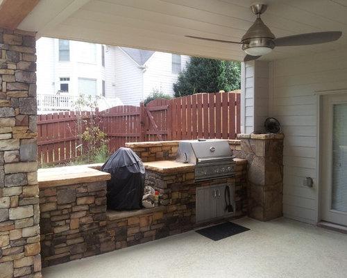 Eclectic atlanta patio design ideas remodels photos houzz for Outdoor kitchen under deck