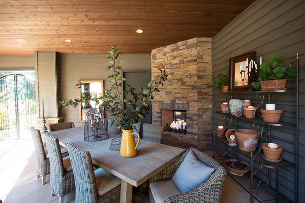 Transitional Patio by Lord Design