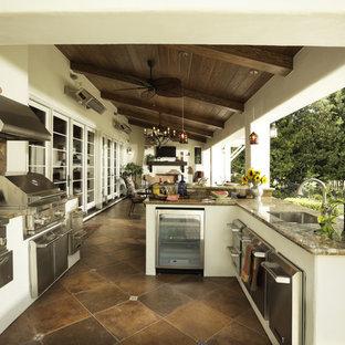 75 Beautiful Mediterranean Outdoor Kitchen Design Pictures ...