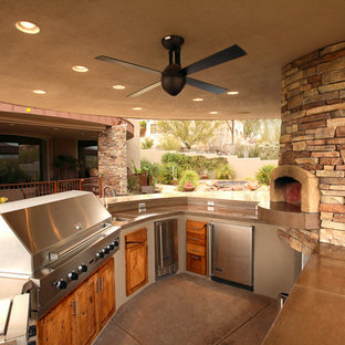 Example of a classic patio kitchen design in Phoenix