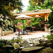 Traditional Patio by McCarthy Custom Homes LLC.