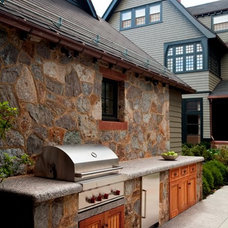 Traditional Patio by S+H Construction