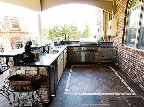 Outdoor kitchen bar home design ideas pictures remodel for Outdoor kitchen designs small spaces
