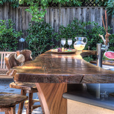 eclectic patio by Treve Johnson Photography