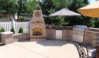 Outdoor Kitchen with Firepit