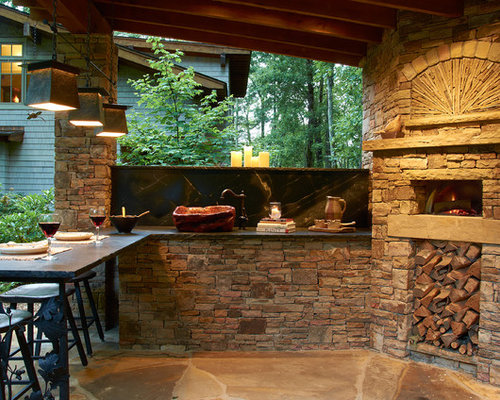 Houzz outdoor kitchen pizza oven design ideas remodel pictures - Outdoor kitchen designs with pizza oven ...