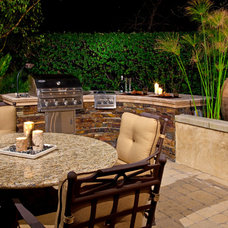 Mediterranean Patio by Mclaughlin Landscape Construction