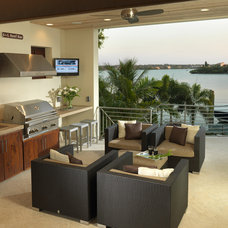 Modern Patio by Olde World Cabinetry