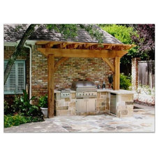 Traditional Patio by LanChester Grill & Hearth