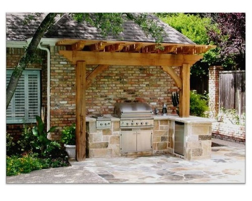 Small outdoor kitchen houzz for Outdoor kitchen ideas houzz