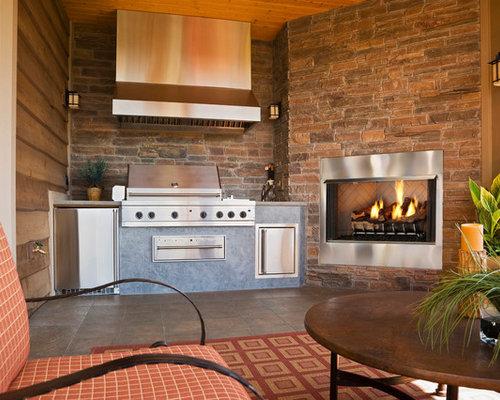 Budget Outdoor Gas Fireplace Kits Home Design Ideas Renovations Photos