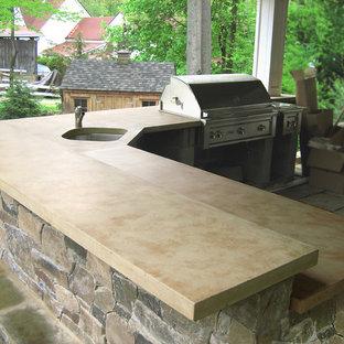 Outdoor Kitchen Countertops Houzz