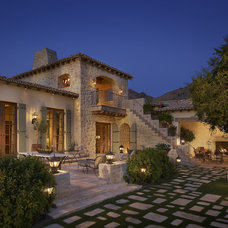 Mediterranean Patio by Desert Star Construction