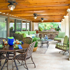 Traditional Patio by April Lipps