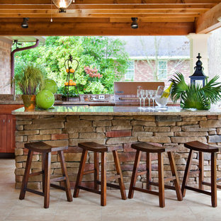 Patio kitchen - traditional patio kitchen idea in Other