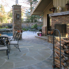 eclectic patio by Bill Fry Construction - Wm. H. Fry Const. Co.
