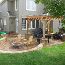 Traditional Patio by Red Oak Landscaping LLC