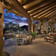 Southwestern Porch by Bess Jones Interiors