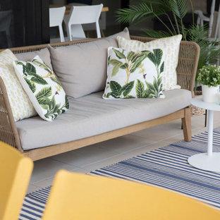 Immagine di un patio o portico stile marinaro