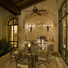 Mediterranean Patio by Braswell Architecture, Inc.