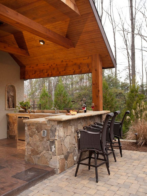 Inspiration For A Timeless Patio Kitchen Remodel In Charlotte