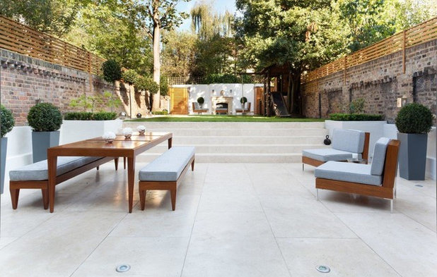 Transitional Patio by Cochrane Design