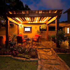 Eclectic Patio by Collinas Design & Construction