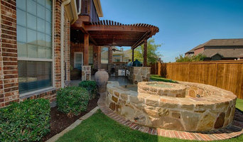Outdoor Living Complete with Kitchen, Firepit, and Balcony