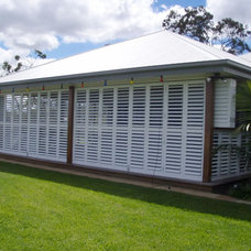 Contemporary Porch by Weatherwell Elite - Aluminum Shutters