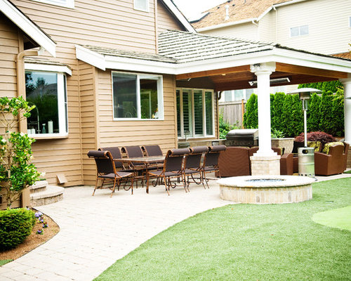 roof extension over patio home design ideas, pictures