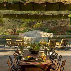 Eclectic Patio by MKandcompany Interior Design & Decoration