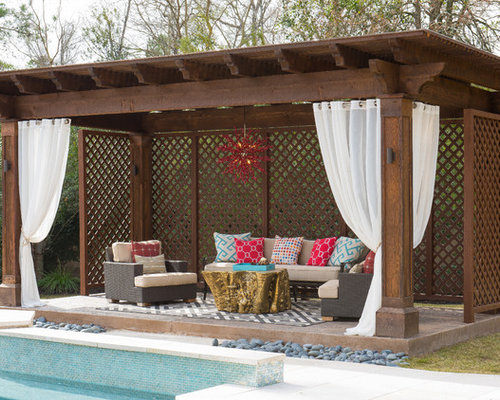 Patio Design Ideas, Remodels & Photos with a Gazebo/Cabana | Houzz