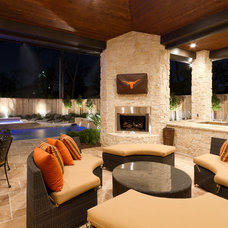 Transitional Patio by Sweetlake Interior Design LLC