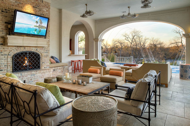 Mediterranean Patio by Platinum Homes by Mark Molthan