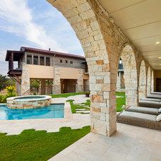 Mediterranean Patio by Jenkins Custom Homes