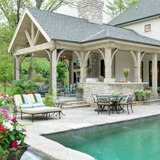 traditional patio by Mitchell Wall Architecture & Design