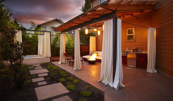 Outdoor Living Room with All Tile Spa