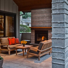 Contemporary Patio by ARTifact Interior Design