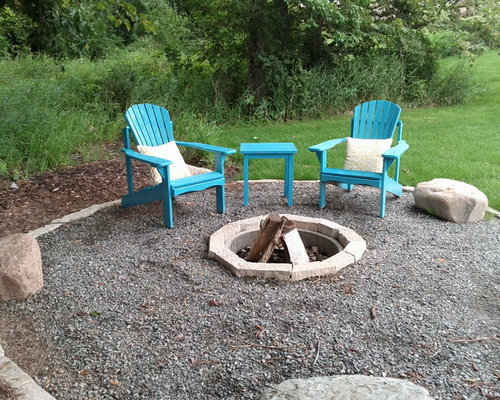 Rustic Fire Pit Home Design Ideas Pictures Remodel And Decor