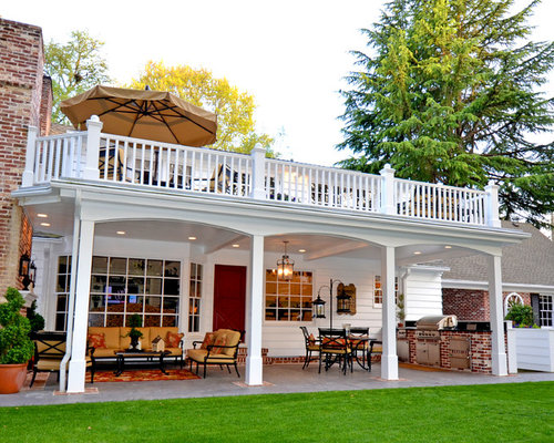 2nd story deck patio design ideas remodels photos houzz for Second story deck plans pictures