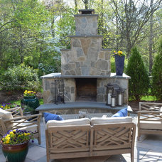 Traditional Patio by K&H Landscape and Grounds Maintenance