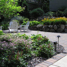 Traditional Patio by Outdoor Excapes of Lake Minnetonka
