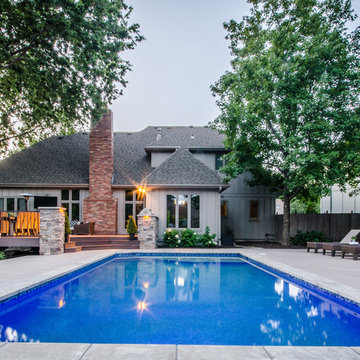Outdoor Living Space + Pool