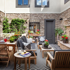 Transitional Patio by Robeson Design